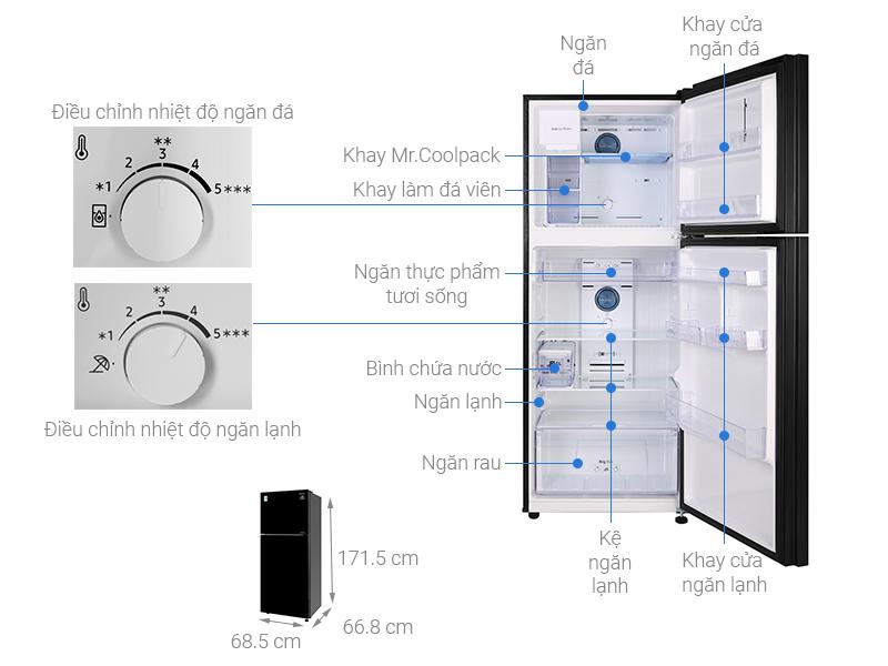 Thông số kỹ thuật Tủ lạnh Samsung Inverter 360 lít RT35K50822C/SV