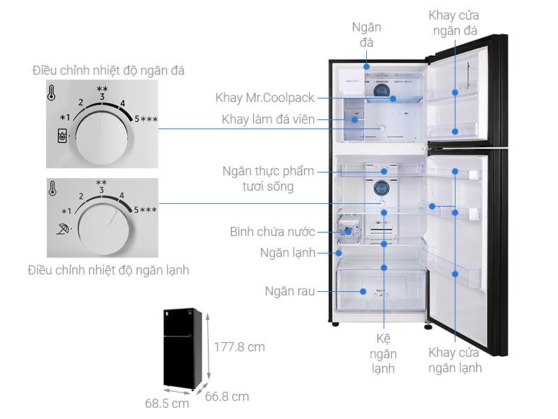 Thông số kỹ thuật Tủ lạnh Samsung Inverter 380 lít RT38K50822C/SV