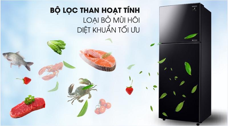 Tủ lạnh Samsung Inverter 380 lít RT38K50822C/SV-Loại bỏ mùi hôi, diệt khuẩn tối ưu cùng bộ lọc than hoạt tính