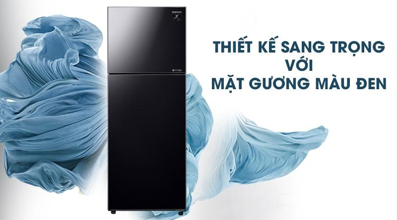 Tủ lạnh Samsung Inverter 380 lít RT38K50822C/SV-Thiết kế sang trọng với mặt gương màu đen