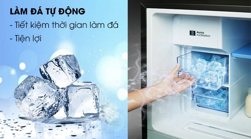 Tủ lạnh Samsung Inverter 380 lít RT38K50822C/SV-Tiệt kiệm thời gian làm đá với cơ chế làm đá tự động