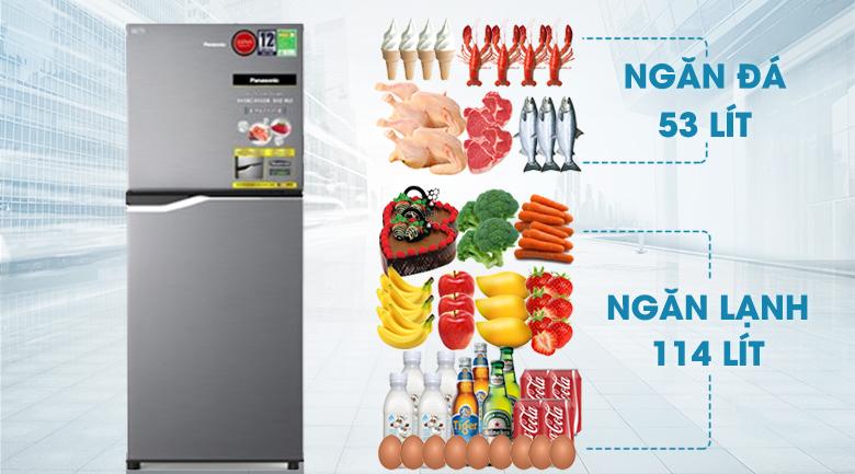 Dung tích 167 lít - Tủ lạnh Panasonic Inverter 167 lít NR-BA189PPVN