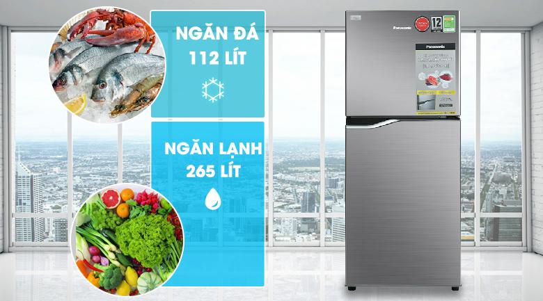 Dung tích - Tủ lạnh Panasonic Inverter 167 lít NR-BA189PPVN