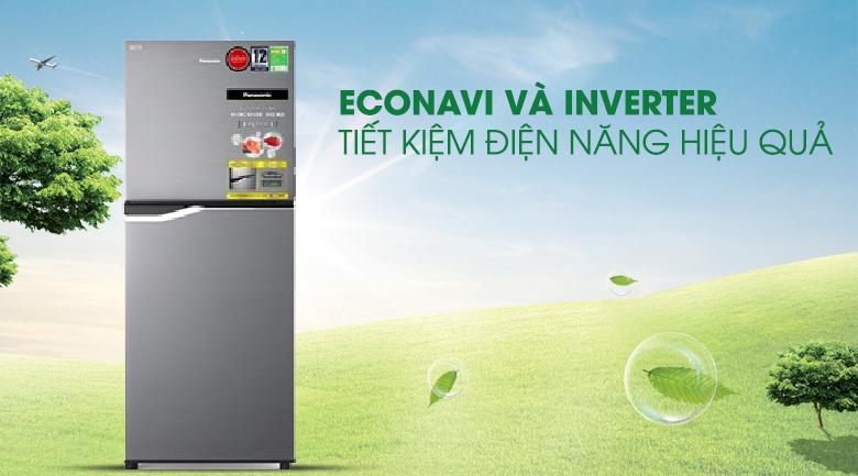 Tiết kiệm điện - Tủ lạnh Panasonic Inverter 167 lít NR-BA189PPVN
