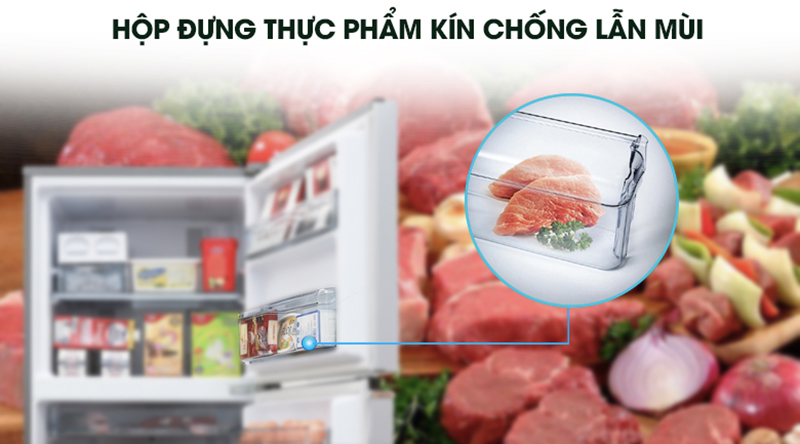 Tủ lạnh Panasonic Inverter 234 lít NR-BL263PKVN-Hạn chế lẫn mùi thực phẩm khác nhờ hộp chứa riêng ở ngăn đông