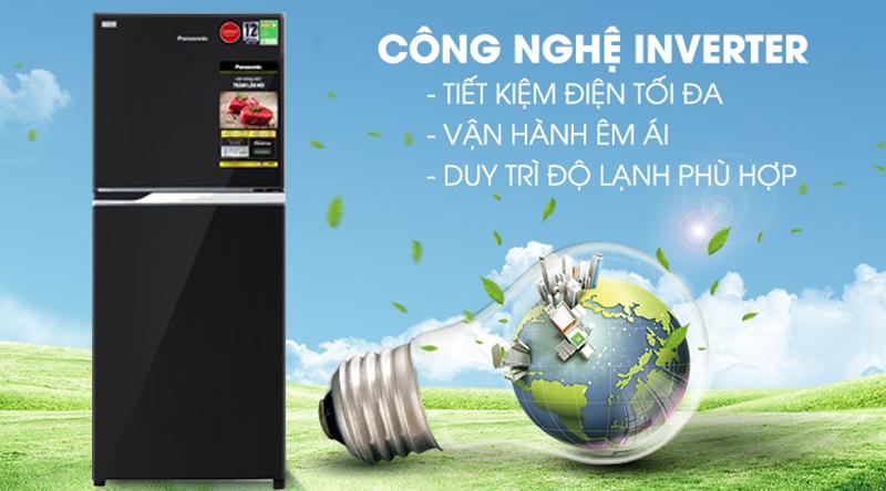 Tủ lạnh Panasonic Inverter 234 lít NR-BL263PKVN-Siêu tiết kiệm điện với công nghệ biến tần Inverter