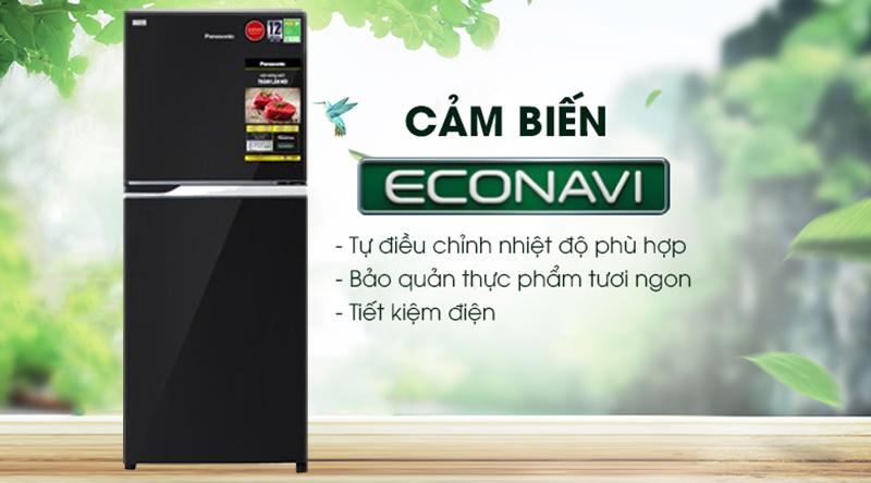 Tủ lạnh Panasonic Inverter 234 lít NR-BL263PKVN-Siêu tiết kiệm điện với cảm biến Econavi
