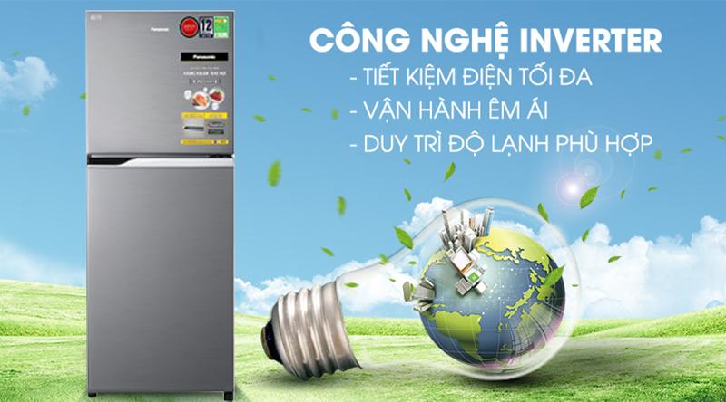 Tủ lạnh Panasonic Inverter 234 lít NR-BL26AVPVN-Tiết kiệm điện hiệu quả cùng công nghệ biến tần Inverter