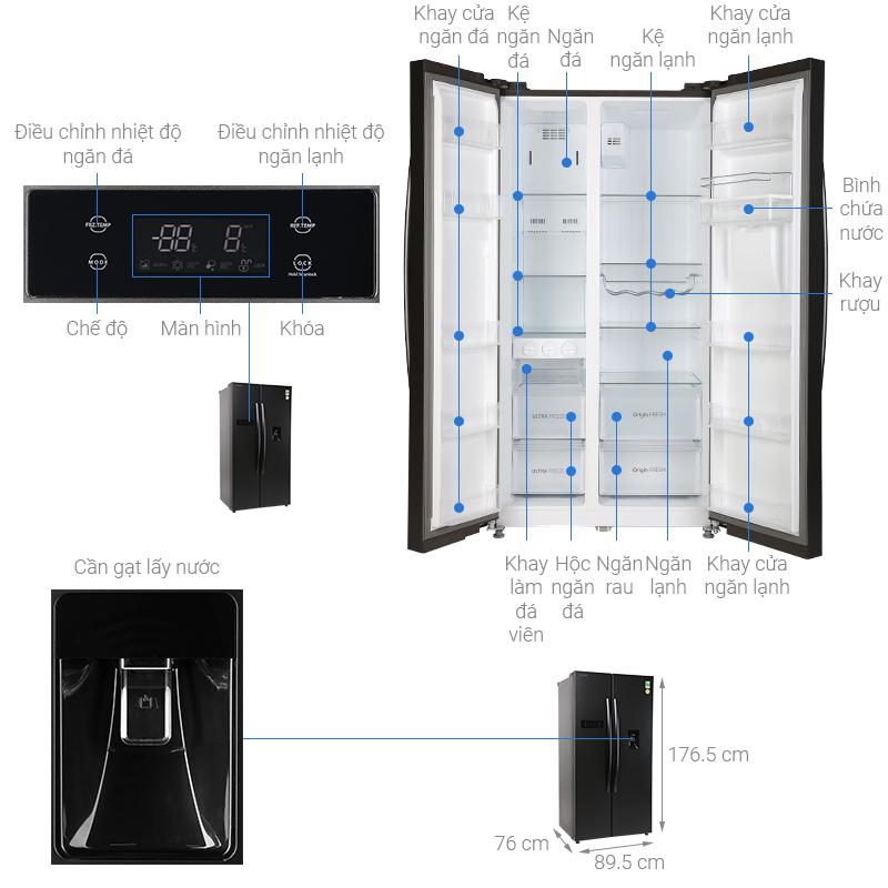 Thông số kỹ thuật Tủ lạnh Toshiba Inverter 513 lít GR-RS682WE-PMV(06)-MG