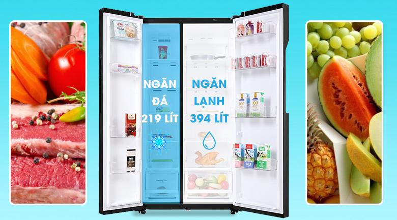 Tủ lạnh LG Inverter 613 lít GR-B247WB - Dung tích