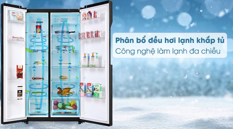 Tủ lạnh LG Inverter 613 lít GR-B247WB - Công nghẹ làm lạnh đa chiều
