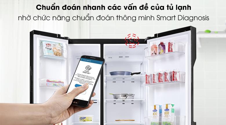 Tủ lạnh LG Inverter 613 lít GR-B247WB - Smart Diagnosis
