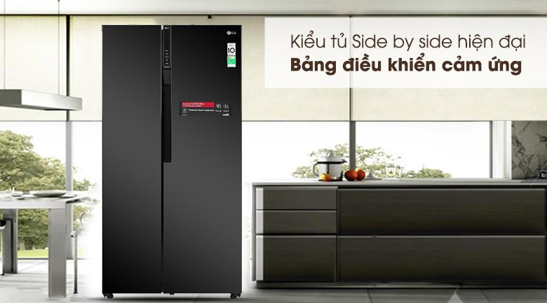 Tủ lạnh LG Inverter GR-B247WB - kiểu tủ side by side