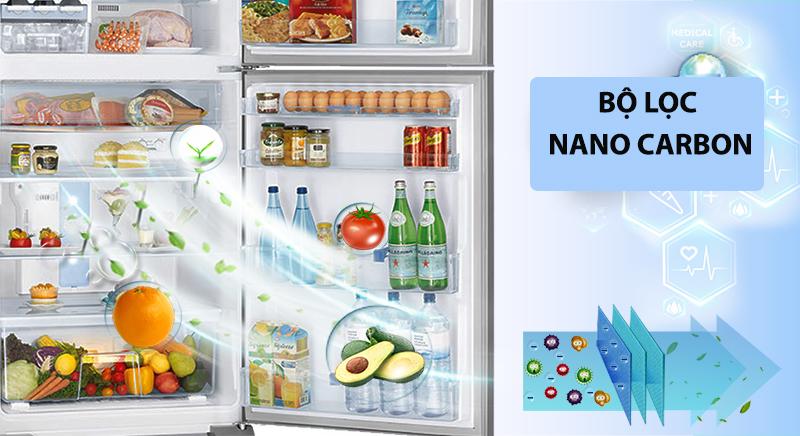 Tủ lạnh LG Inverter 613 lít GR-B247WB-Kháng khuẩn và khử mùi hôi hiệu quả cùng bộ lọc Nano Carbon