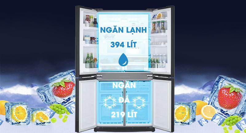 Tủ lạnh LG Inverter 613 lít GR-B247WB-Dung tích 613 lít, phù hợp cho gia đình trên 5 thành viên