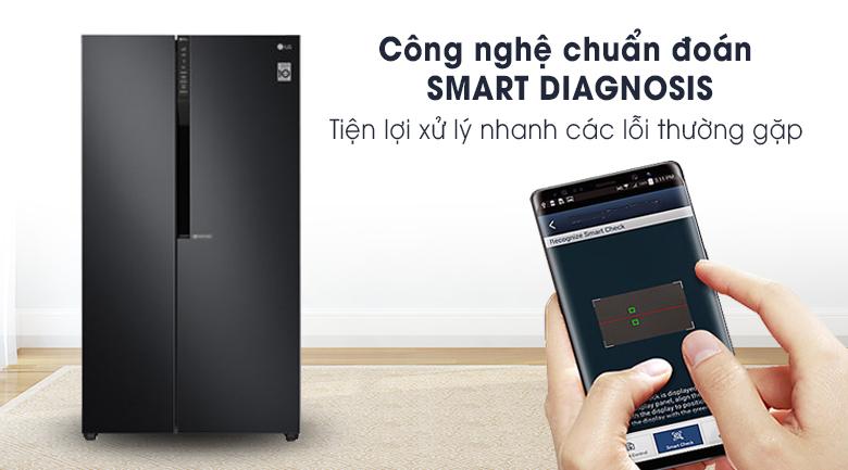 Tủ lạnh LG Inverter 613 lít GR-B247WB-Tiện ích với chức năng chuẩn đoán lỗi thông minh Smart Diagnosis