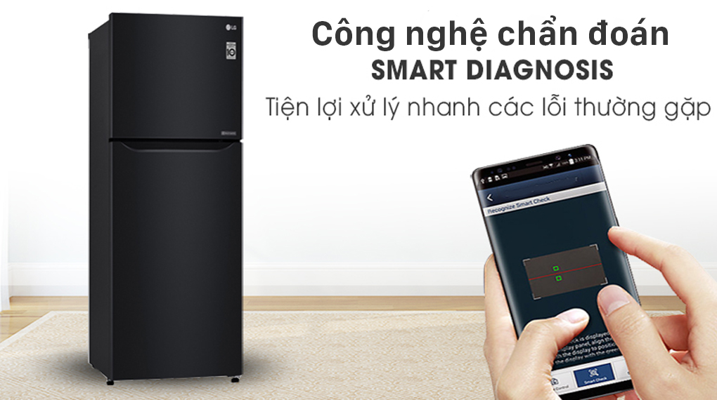 Tủ lạnh LG Inverter 187 lít GN-L205WB - Smart Diagnosis