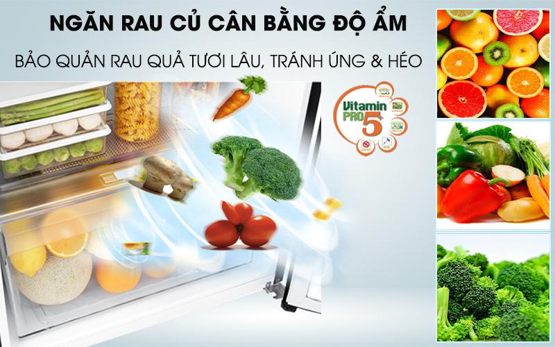 Tủ lạnh LG Inverter 187 lít GN-L205WB-Giúp rau quả tươi, tránh héo úng với ngăn cân bằng độ ẩm