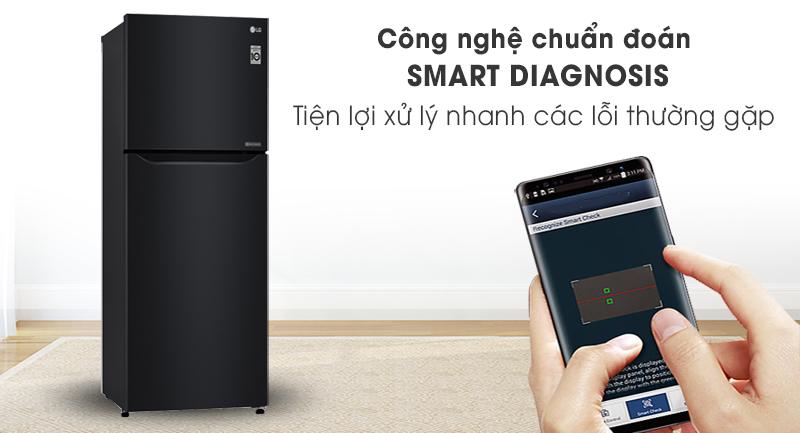 Tủ lạnh LG Inverter 187 lít GN-L205WB-Xử lý lỗi nhanh chóng với công nghệ Smart Diagnosis