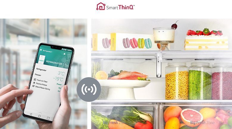 Điều khiển tủ lạnh ở mọi nơi bằng ứng dụng SmartThinQ