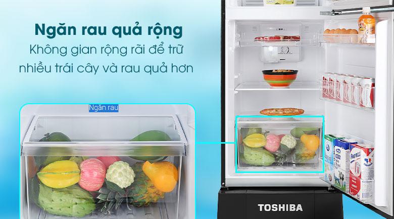 Tủ lạnh Toshiba Inverter 194 lít GR-A25VM(UKG1)-Dự trữ, bảo quản nhiều loại thực phẩm trong ngăn rau quả rộng