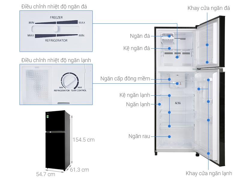 Thông số kỹ thuật Tủ lạnh Toshiba Inverter 233 lít GR-A28VM(UKG1)