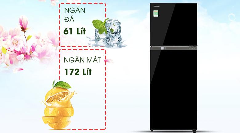 Dung tích-Tủ lạnh Toshiba Inverter 233 lít GR-A28VM