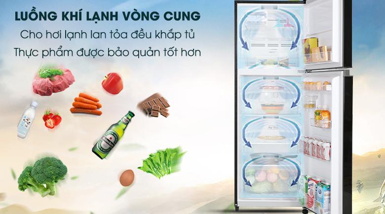 Làm lạnh vòng cung-Tủ lạnh Toshiba Inverter 233 lít GR-A28VM