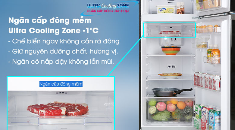 Ngăn cấp đông mềm-Tủ lạnh Toshiba Inverter 233 lít GR-A28VM