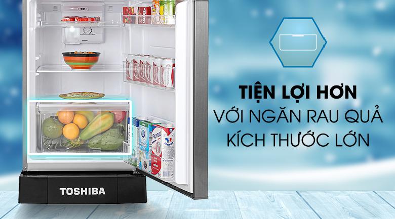Ngăn rau củ lớn - Tủ lạnh Toshiba Inverter 194 lít GR-A25VS(DS1)