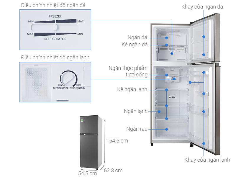 Thông số kỹ thuật Tủ lạnh Toshiba Inverter 233 lít GR-A28VS(DS1)