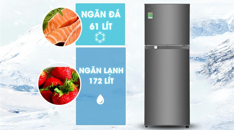 Dung tích - Tủ lạnh Toshiba Inverter 233 lít GR-A28VS(DS1)