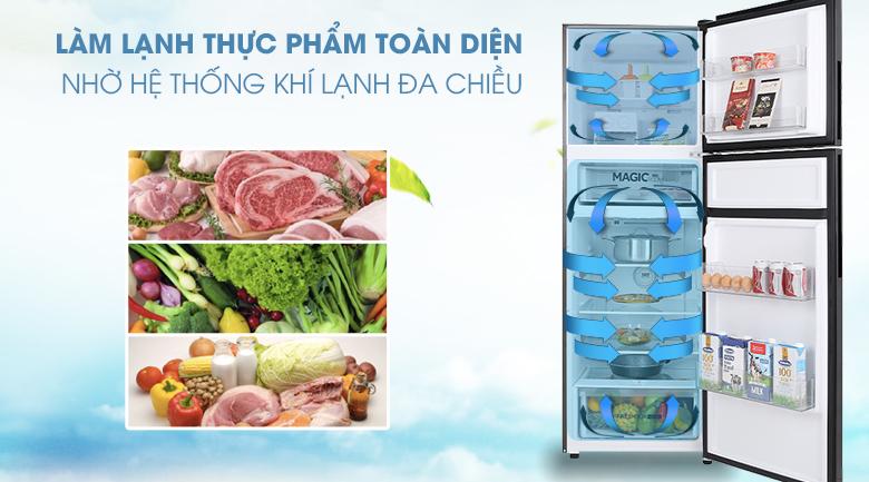 Tủ lạnh Aqua Inverter 312 lít AQR-T359MA(GB)-Làm lạnh thực phẩm toàn diện nhờ hệ thống khí lạnh đa chiều