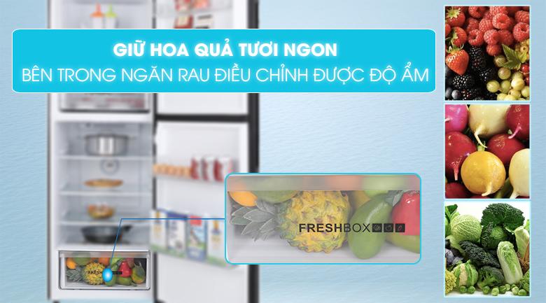 Tủ lạnh Aqua Inverter 312 lít AQR-T359MA(GB)-Giữ rau quả tươi ngon với ngăn rau điều chỉnh được độ ẩm