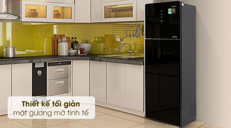 Tủ lạnh Aqua Inverter 312 lít AQR-T359MA(GB)-Thiết kế tối giản, mặt gương mờ tinh tế, hiện đại