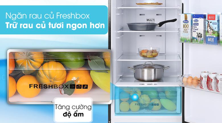 Tủ lạnh Aqua Inverter 344 lít AQR-T389FA(WGB)-Giúp rau quả tươi lâu trong ngăn rau điều chỉnh được độ ẩm
