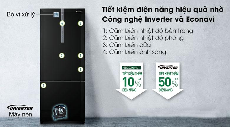 Tủ lạnh Panasonic NR-BX410GKVN - Inverter và Econavi