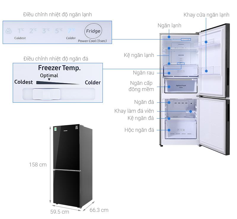 Thông số kỹ thuật Tủ lạnh Samsung Inverter 280 lít RB27N4010BU/SV