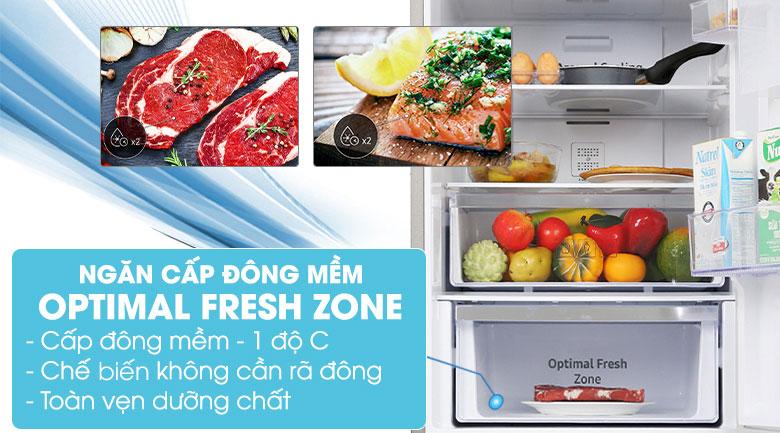 Tủ lạnh Samsung Inverter 280 lít RB27N4010BU/SV - Ngăn đông mềm -1 độ C Optimal Fresh Zone