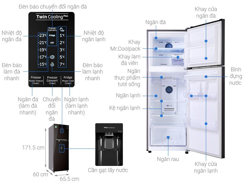 Thông số kỹ thuật Tủ lạnh Samsung Inverter 319 lít RT32K5932BY/SV