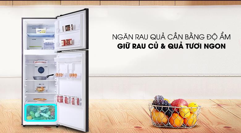 Tủ lạnh Samsung Inverter 319 lít RT32K5932BY/SV - Ngăn rau củ quả cân bằng độ ẩm