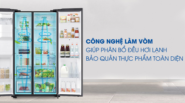 Tủ lạnh Samsung Inverter 616 lít RS64T5F01B4/SV - Làm lạnh vòm