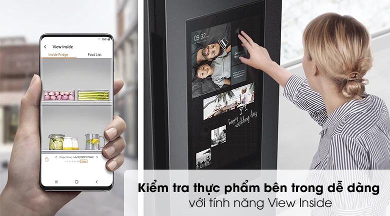Tủ lạnh Samsung Inverter 616 lít RS64T5F01B4/SV - View inside