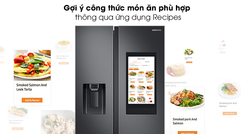 Tủ lạnh Samsung Inverter 616 lít RS64T5F01B4/SV - Recipes