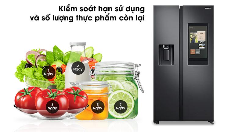 Tủ lạnh Samsung Inverter 616 lít RS64T5F01B4/SV - Kiểm soát hạn sử dụng