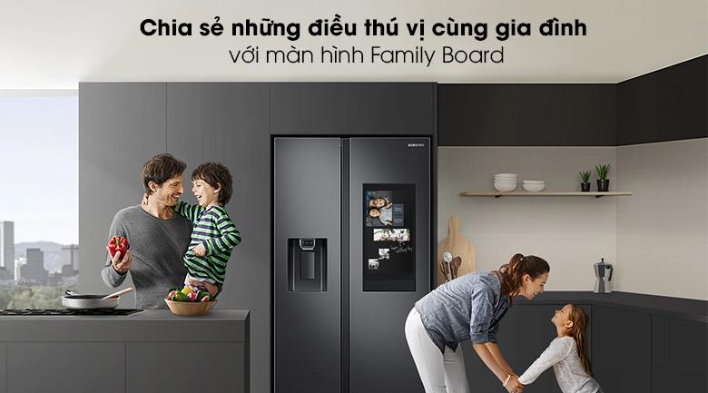 Tủ lạnh Samsung Inverter 616 lít RS64T5F01B4/SV - Màn hình
