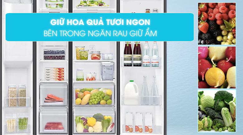 Tủ lạnh Samsung Inverter 616 lít RS64T5F01B4/SV - Ngăn rau