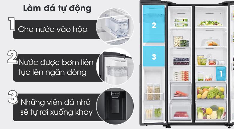 Tủ lạnh Samsung Inverter 616 lít RS64T5F01B4/SV - Làm đá