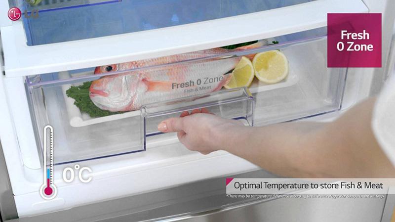 Tủ lạnh LG Inverter 305 lít GR-D305MC-Tiết kiệm thời gian chế biến nhờ ngăn đông mềm Fresh O Zone