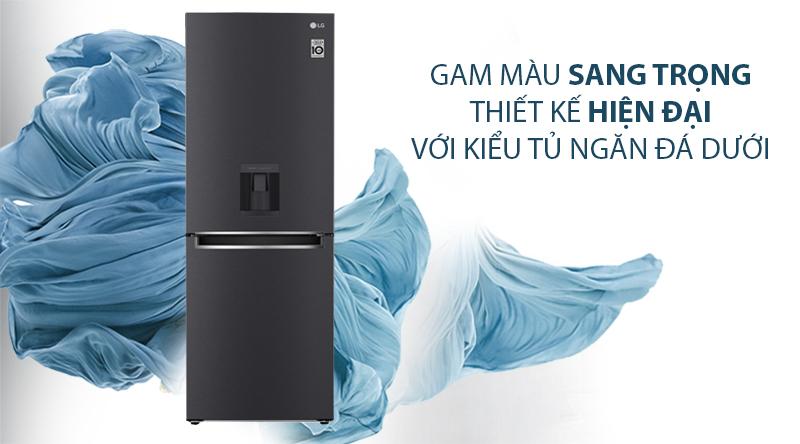 Tủ lạnh LG Inverter 305 lít GR-D305MC-Gam màu sang trọng, thiết kế hiện đại với kiểu tủ ngăn đá dưới